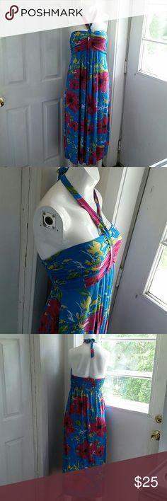 BO DA FA Very pretty and comfortable summer dress with a very nice color combination. BO DA FA Dresses Maxi