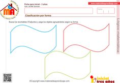 Clasificación por forma 1: Lógico matemática 3 años - Material de Aprendizaje