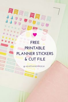 Free Printable Stickers For Your Planner! - Heart Handmade uk