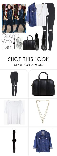 """""""Cinema With Liam"""" by the4dipshits ❤ liked on Polyvore featuring Topshop, Givenchy, T By Alexander Wang, Melanie Auld and H&M"""