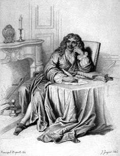 Molière by Jean Auguste Dominique Ingres, 1843