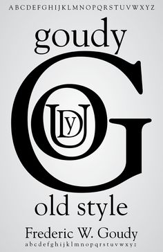 Goudy Old Style Typeface Posters
