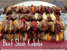 Check out this really great recipe for Beef Shish Kabob Quick Dinner For Two.  This is a great recipe for any size family!