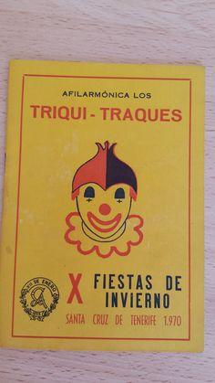 Cancionero Afilarmonica Triqui Traques. Año 1970. Carnaval de Santa Cruz de Tenerife.