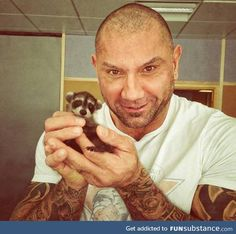 Drax the destroyer and rocket raccoon