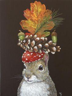 Vicki Sawyer - Available Originals Whimsical Art, Animal Paintings, Illustrators, Folk Art, Fantasy Art, Original Artwork, Illustration Art, Artsy, Art Prints