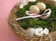 Porta-alianzas de musgo y tipo nido 11