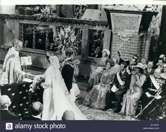 Jun. 06, 1976 - King Carl Gustaf of Sweden Marries German-Born Commoner Silvia Sommerlath in Stockholm: Following the marriage ceremony in Stockholm's: Archbishop Olof Sundey who conducted the marriage ceremony, shakes hands with the bride, watched by King Gustaf, safer they had been pronounced man and wife at the ceremony in Stockholm's 700 year old Cathedral. Stock Photo