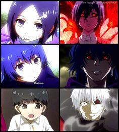 Before-> After | Kaneki-Touka- Ayato | Tokyo Ghoul