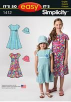 It's So Easy Child's and Girls' Dress and Hat