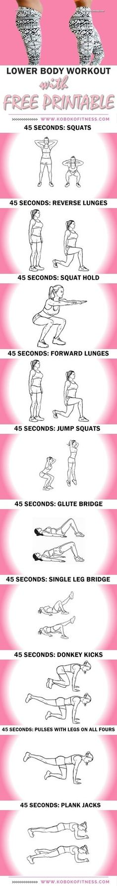 You get the best lowerbody workout. Thigh workout and butt workout all in one and youre done in 10 m… You get the best lowerbody workout. Thigh workout and butt workout all in one and youre done in 10 minutes. AWESOME butt and thigh workout with printable Fitness Workouts, Yoga Fitness, Reto Fitness, Butt Workout, At Home Workouts, Health Fitness, Fitness Men, Fitness Goals, Thigh Exercises