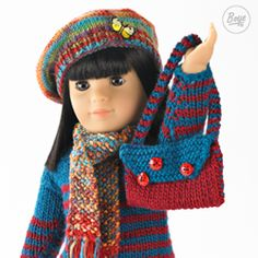 Knit or crochet an adorable wardrobe for your favorite doll!