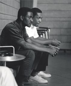Pharoah Sanders & John Coltrane, Ascension session, June 1965 by Chuck Stewart