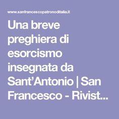 Una breve preghiera di esorcismo insegnata da Sant'Antonio | San Francesco - Rivista della Basilica di San Francesco di Assisi