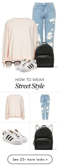 """Street Style"" by tayswift-1d on Polyvore featuring Topshop, AllSaints, Gucci, Christian Dior and adidas Originals"