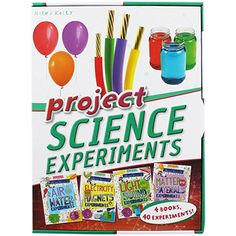 Project Science Experiments Box - 4 Books by Miles Kelly | Children's Science and Nature Books at The Works ONLY £7