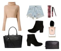 """Untitled #14"" by leonora-molbaek on Polyvore featuring Chicnova Fashion, Witchery, Steve Madden, Kylie Cosmetics, Armani Beauty and Chanel"