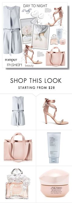 """Romper"" by stranjakivana ❤ liked on Polyvore featuring Miss Selfridge, Paul Andrew, Corto Moltedo, Estée Lauder, Guerlain, Shiseido, Valentino, DayToNight and romper"