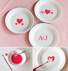 water + confectioners sugar + food color = edible paint to decorate dishes