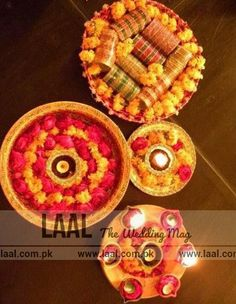 "Find out the Latest ""Mehndi Thaal Designs"" visit laal.com.pk for more..."