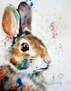 Watercolor bunny