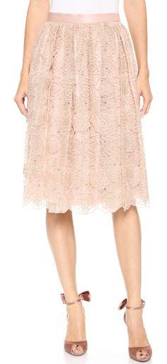 LEUR LOGETTE Rose embroidery skirt found at Nudevotion.com