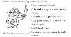 Comprensió lectora i pintar segons lectura.pdf 1 J, Lectures, Conte, Valencia, True Love, Gabriel, Pirates, Google, School