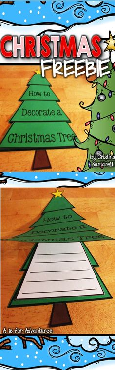 Christmas FREEBIE! Fun Christmas Tree foldable/craft writing activity!