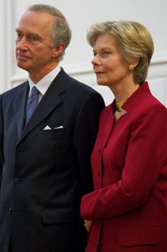 Archduke Carl Christian and Princess Marie- Astrid of Austria. former Princess Marie-Astrid of Luxembourg.