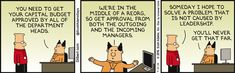 Solving problems caused by leadership  - Dilbert by Scott Adams