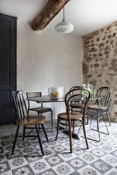 Méchant Studio Blog: cement tiles against stone