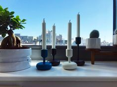 Nappula candleholders, designed by Matti Klenell, combine vintage and modern forms. Better Homes, Scandinavian, Candle Holders, Candles, Design, Home Decor, Decoration Home, Room Decor, Porta Velas