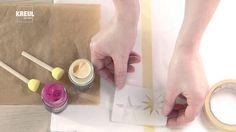 Schablonierte Muster auf Textilien mit den KREUL Stoffmalfarben