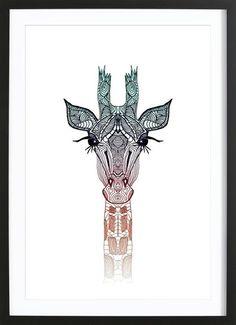 Giraffe as Framed Poster by Monika Strigel   JUNIQE