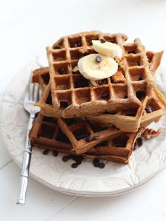 gluten free banana waffles #abreakfastfoodie