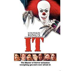 """Stephen King """"It"""" - Horror Film Movie Poster Wall Art Print Affiliate Best Horror Movies, Horror Movie Posters, Scary Movies, Great Movies, Scary Scary, Horror Dvd, Scary Witch, Creepy Clown, Scary Stuff"""
