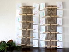 DIY clothespin Advent Calendar kids can help make.