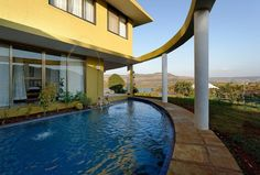 """Villa in Lonavala, India. Le Farm is a standalone property built on 15 acres of private land. The magnificent estate is located in Village Bhajgaon on the back waters of Vadivale lake. Lefarm has 6 bedrooms,opening to a marvelous, specific lake view of its own.  """"Le Farm K..."""