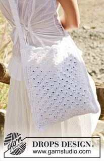 "DROPS 99-24 - DROPS Crochet bag in ""Bomull-Lin"". - Free pattern by DROPS Design"