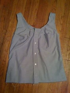 Mens shirt refashion to tank top It's cute but no tutorial would have to do trial and error