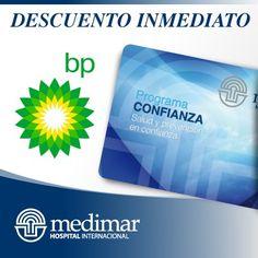 Descuento inmediato en Gasolineras BP con la Tarjeta Confianza. http://www.hospitalmedimar.com/confianza/