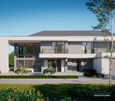 House Project LK&1522 Modern Exterior House Designs, Modern House Design, Contemporary House Plans, Modern Contemporary, 5 Bedroom House Plans, Luxury Homes Dream Houses, Dream Homes, Model House Plan, Two Storey House