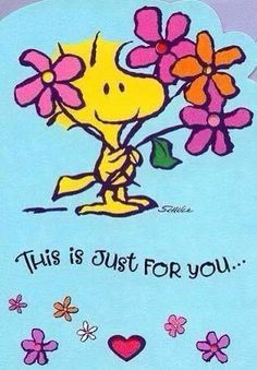 This is just for you.from Woodstock (Snoopy) Peanuts Cartoon, Peanuts Snoopy, Snoopy Hug, Snoopy Cartoon, Snoopy Und Woodstock, Woodstock Bird, Birthday Wishes, Happy Birthday, Birthday Quotes