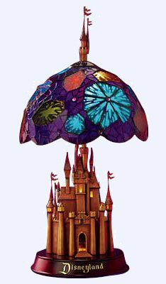 Disney castle stained glass lamp -- I WANT THIS!!