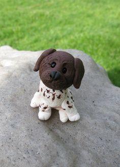 German Shorthaired Pointer  Polymer Clay by MichellesClayCorner