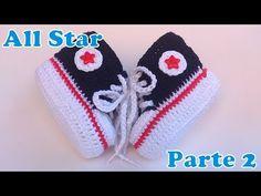 Sapatinho All Star de Crochê 2 - YouTube