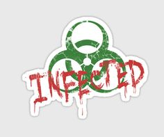 zombie sticker Infected by purplecactusdesign on Etsy, $3.50