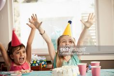 Stock Photo : Children excited and having fun at party