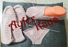 This Pin was discovered by taz Knitting Paterns, Knitting Videos, Knitting Stitches, Baby Knitting, Crochet Baby, Knit Crochet, Crochet Patterns, Diy Knitting Slippers, Woolen Socks