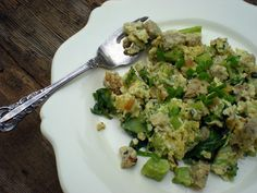 Egg and Vegetable Scramble with Homemade Chicken Sausage | Food: Good for the Soul